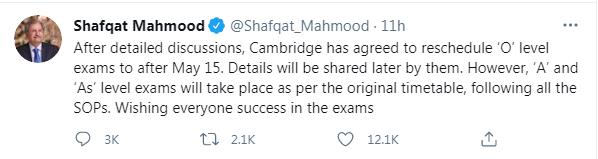 Cambridge 'agrees to reschedule' O Level exams in Pakistan