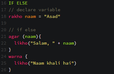 You can now write codes in Urdu language