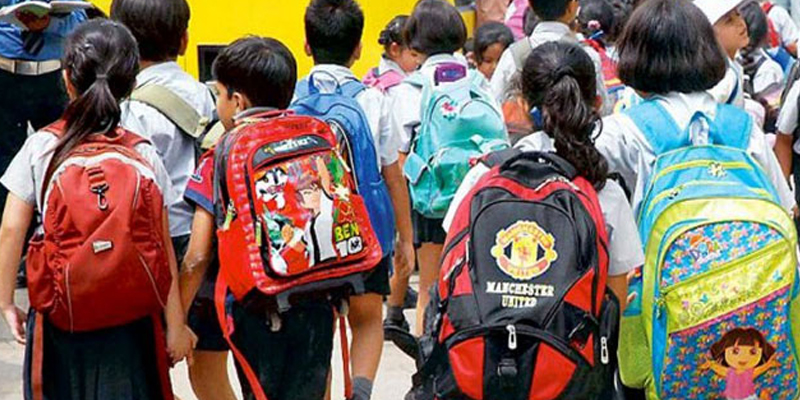 School Bags Limitation Weight Act - schools may face cancellation of registration