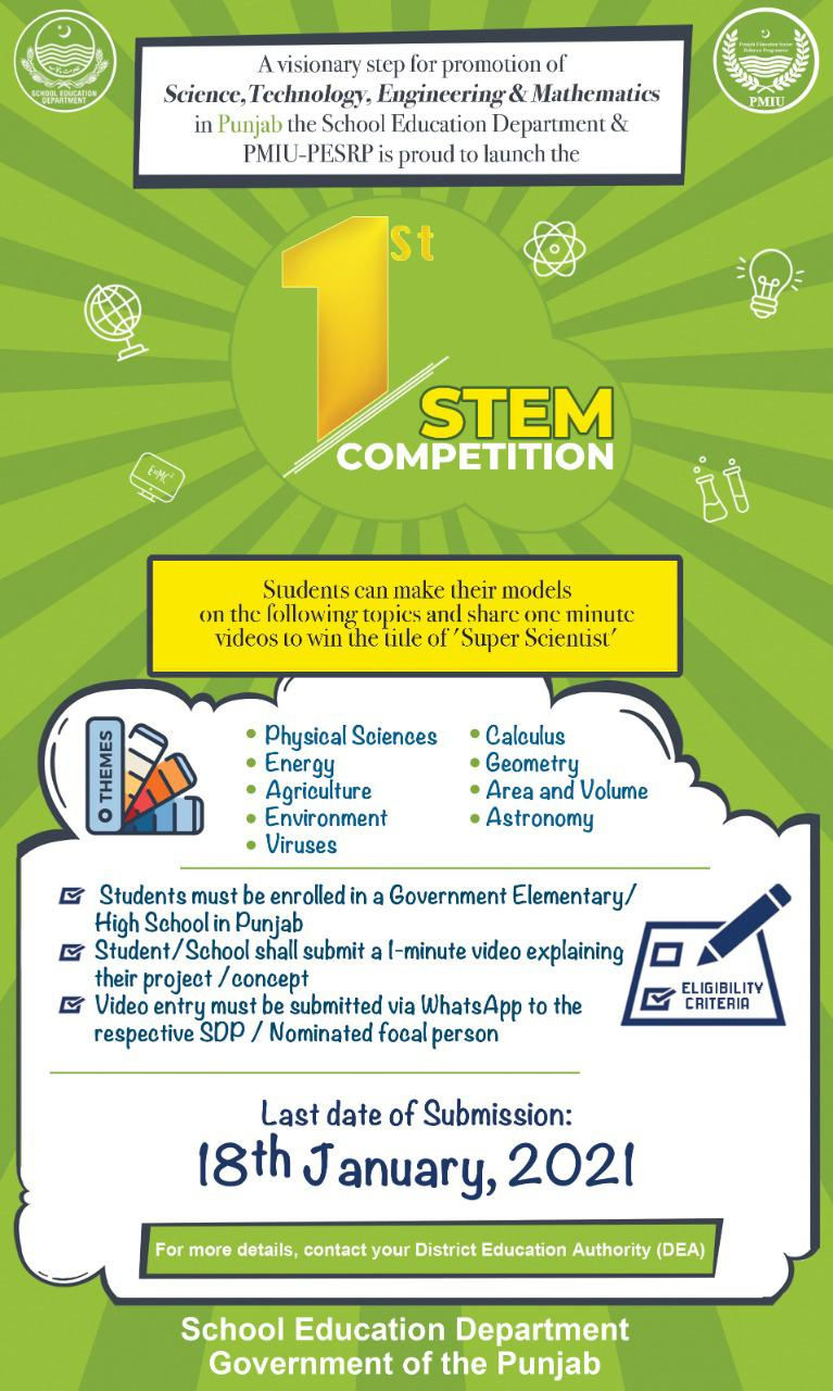 Punjab government announces STEM competition for school students