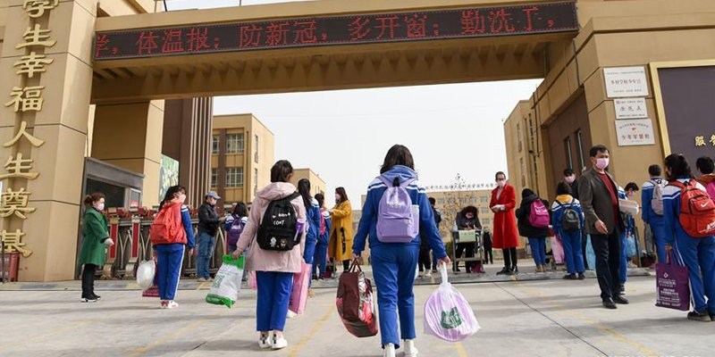 China re-opens schools after 3 months