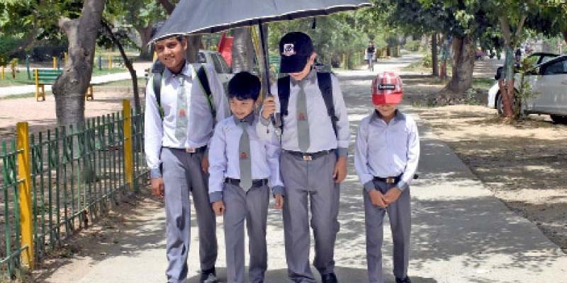 Schoolchildren at risk of heatstroke
