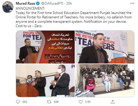 Punjab govt. launches online portal for teachers