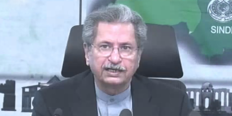 Exams to be held from third week of May: Shafqat Mahmood