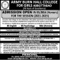 Army Burn Hall College For Girls Abbottabad announced admission 2021 for BS / Undergraduate Programs