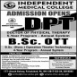 Independent Medical College Faisalabad announced admission 2021 for BS / Undergraduate Programs