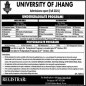 University Of Jhang ( UOJ), Jhang announced admission 2021 for Masters MS MPhil Programs